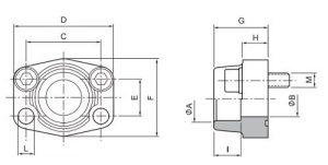 SAE socket weld flanges drawing 300x151 - SAE-socket-weld-flanges-drawing