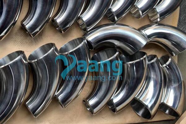 asme b16 9 astm a403 wp310s 90 degree reducing elbow lr 6%E2%80%B3 x 4%E2%80%B3 sch40s - ASME B16.9 ASTM A403 WP310S 90 Degree Reducing Elbow LR 6″ x 4″ SCH40S Mirror Polishing